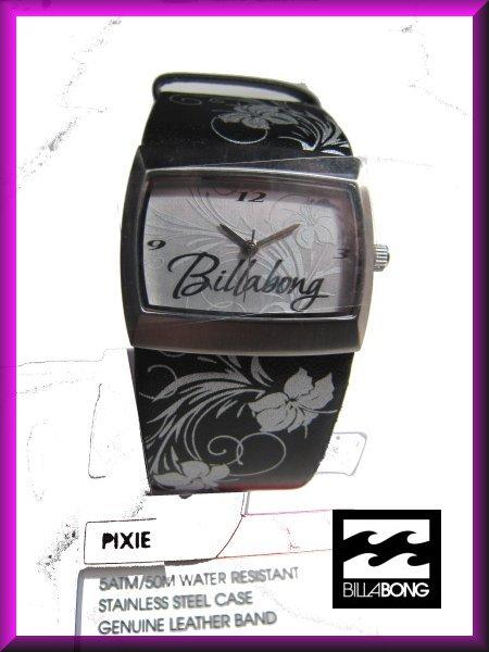 1 billabong pixie womens black leather wrist
